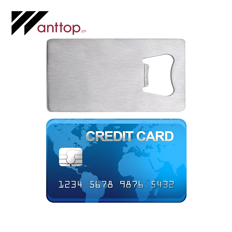 Promotional Metal Business And Credit Card Bottle Opener With Cutom Logo