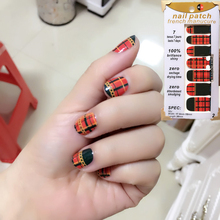 Black Rad Lattice Style Nail Arts Nail Sticker Waterproof Nail Decal Sticker Gel Polish French Manicure