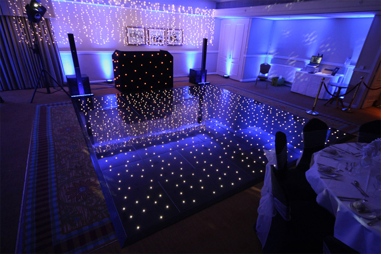 2016 new led starlit dance floor dancing floors