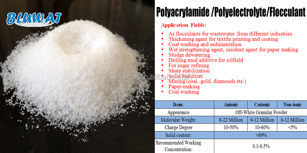 Papermaking Wastewater Chemicals Cationic Flocculant Polyacrylamide/cpam water treatment chemical