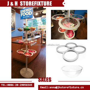 Acrylic Bubble rack bowl display stand unique merchandisers