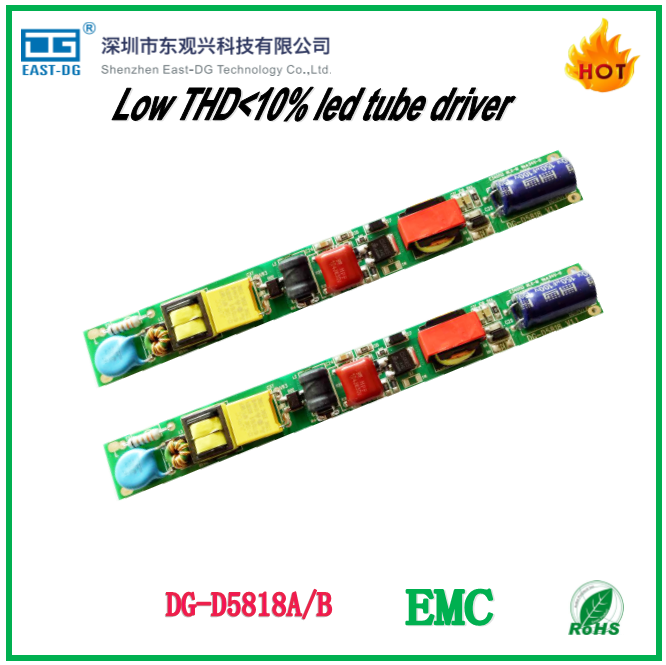 DG-D5818A slim non isolated led driver low THDi <10% DC36V-80V 240ma es led driver