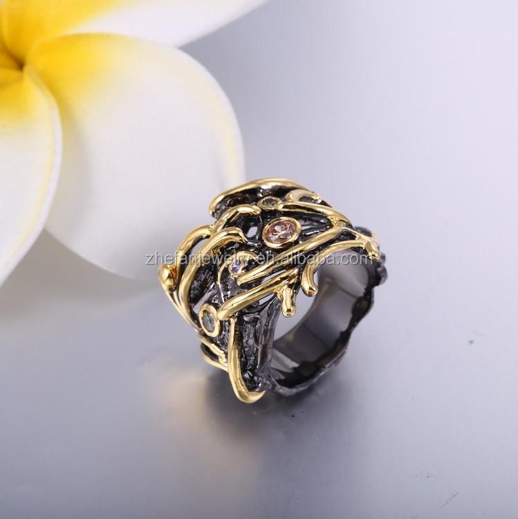 8acbb567fbf6 Últimas anillos de oro negro oro moda hombres negro coral anillos joyería