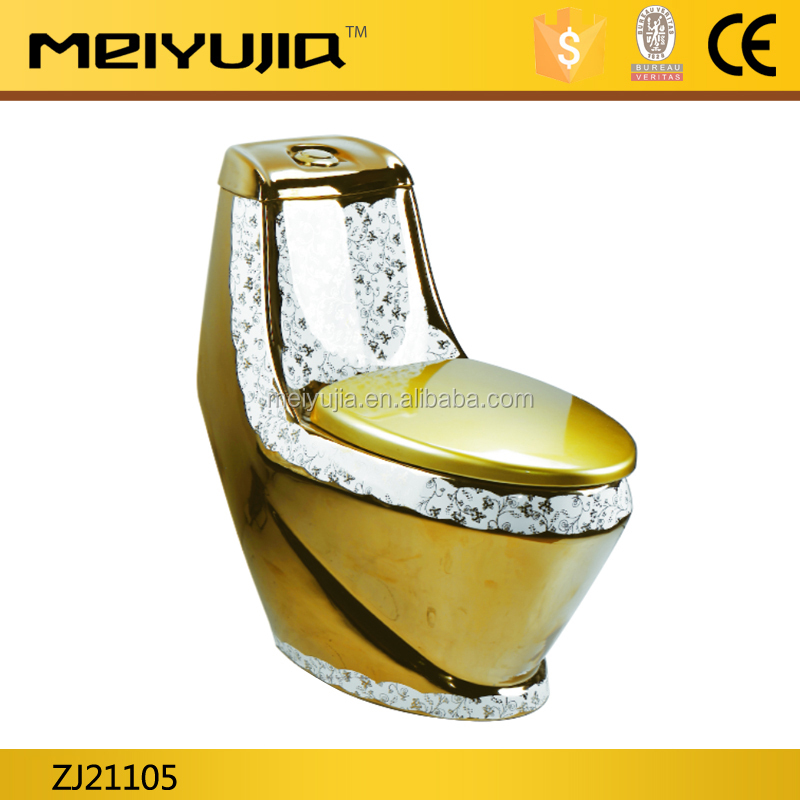 luxury dragon washdown sanitary ware golden color toilet gold wc toilet for hotel