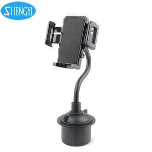 One Hand Operation Gooseneck Cell Phone Car Cup Holder Phone Mount