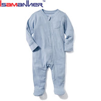 0-24 months infant footed baby pajamas, long sleeve toddler footed