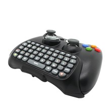 Black Wireless Messenger Chatpad Keyboard Keypad Text Pad for Xbox 360 Xbox360 Controller happy time Wholesale