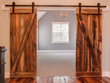 10FT New Double Wood Sliding Barn Door Hardware Rustic Track Door Kit