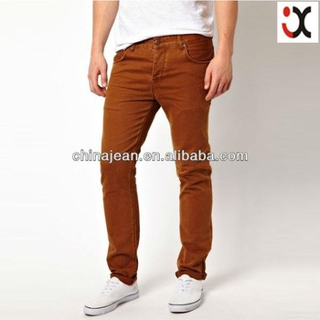 sexy hot colored jeans skinny jean men pencil fit jeans JXC30017