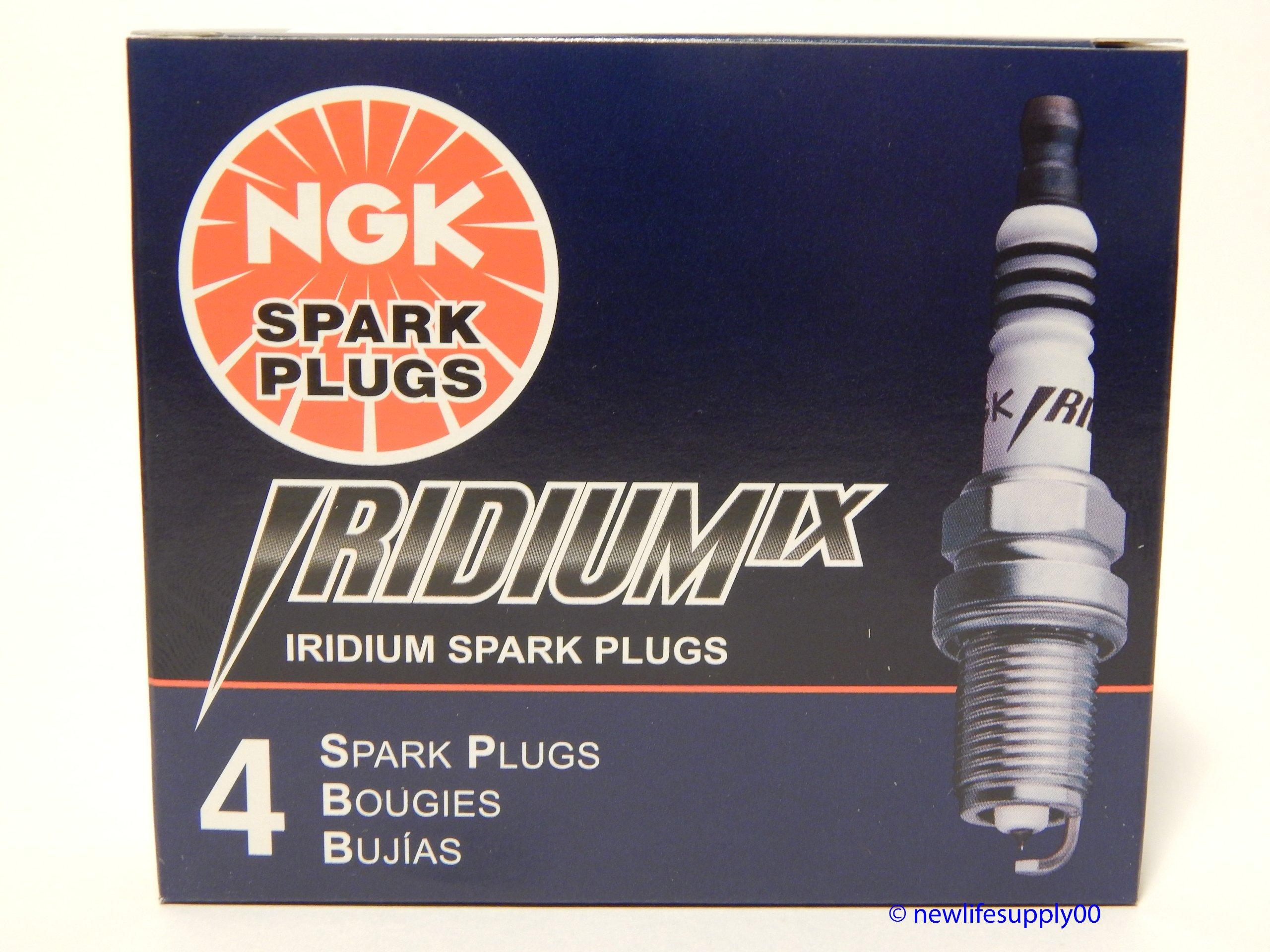 4 PCS NEW NGK # 6418 Iridium Spark Plugs BKR6EIX -