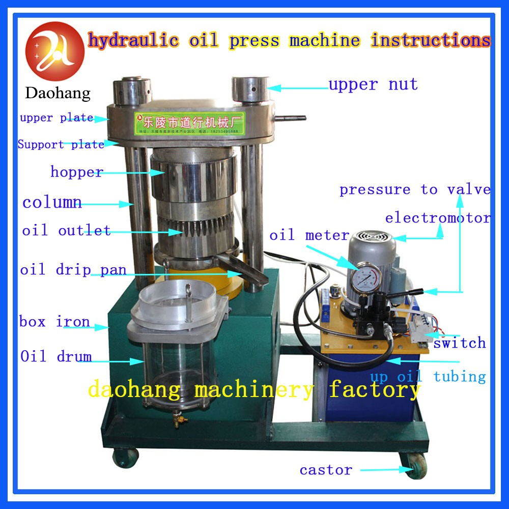 Seed Oil Extraction Hydraulic Press Machine Sesame Oil