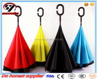 Top Sale Newest design colorful creative graphic windproof car reverse umbrella