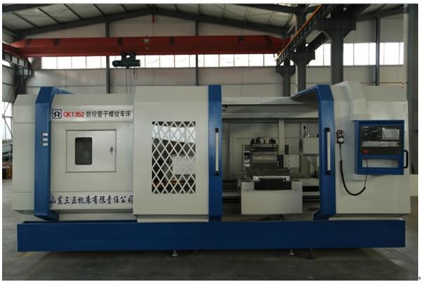 QK1352 cnc 808d rohr threading drehmaschine für drehen metall in china