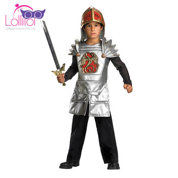 OEM accepted Knight cosplay costumes boys dressing up halloween outfits for kids