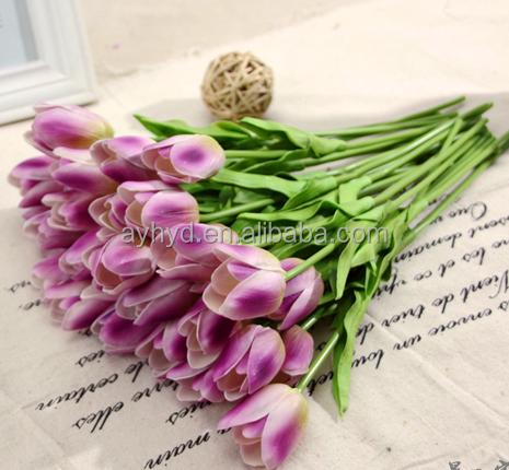 Hot sale artificial PU material giant tulip home decor