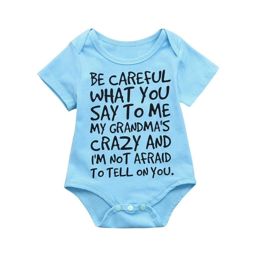 TIFENNY Infant Baby Girls Boys Letter Print Jumpsuit Romper Outfits Clothes, Clearance!