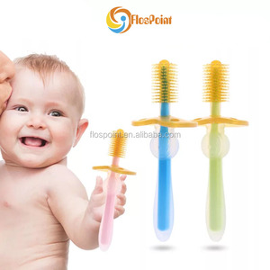 Hot selling professional factory manufacturer non electric healthy toothbrush silicone rubber toothbrush for baby