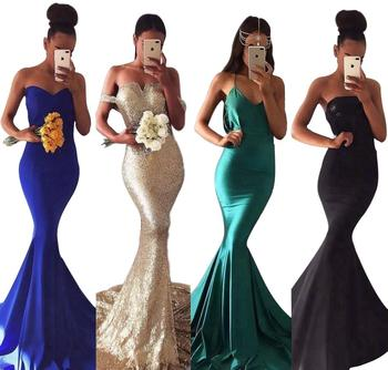 bf3b7c6d92 2019 Royal Blue Bohemian Style Long Evening Dresses Mermaid Prom Party Gown