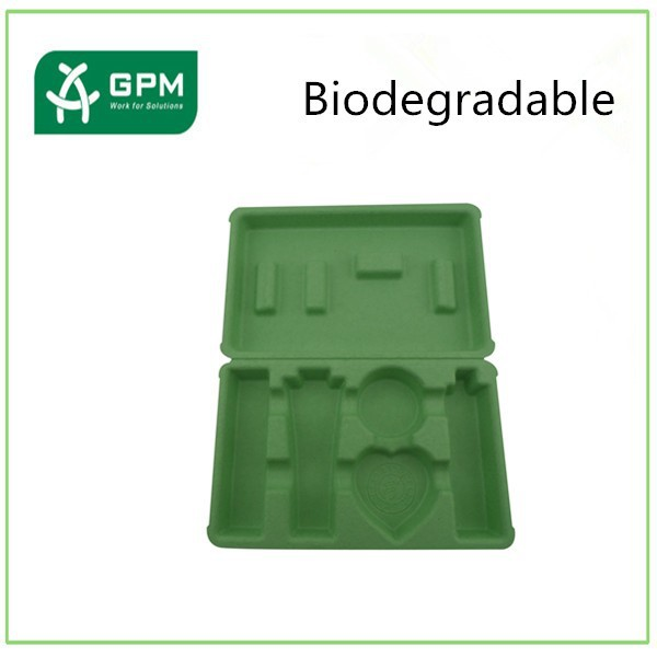 Biodegradable green paper cosmetic containers for sale manufacturers