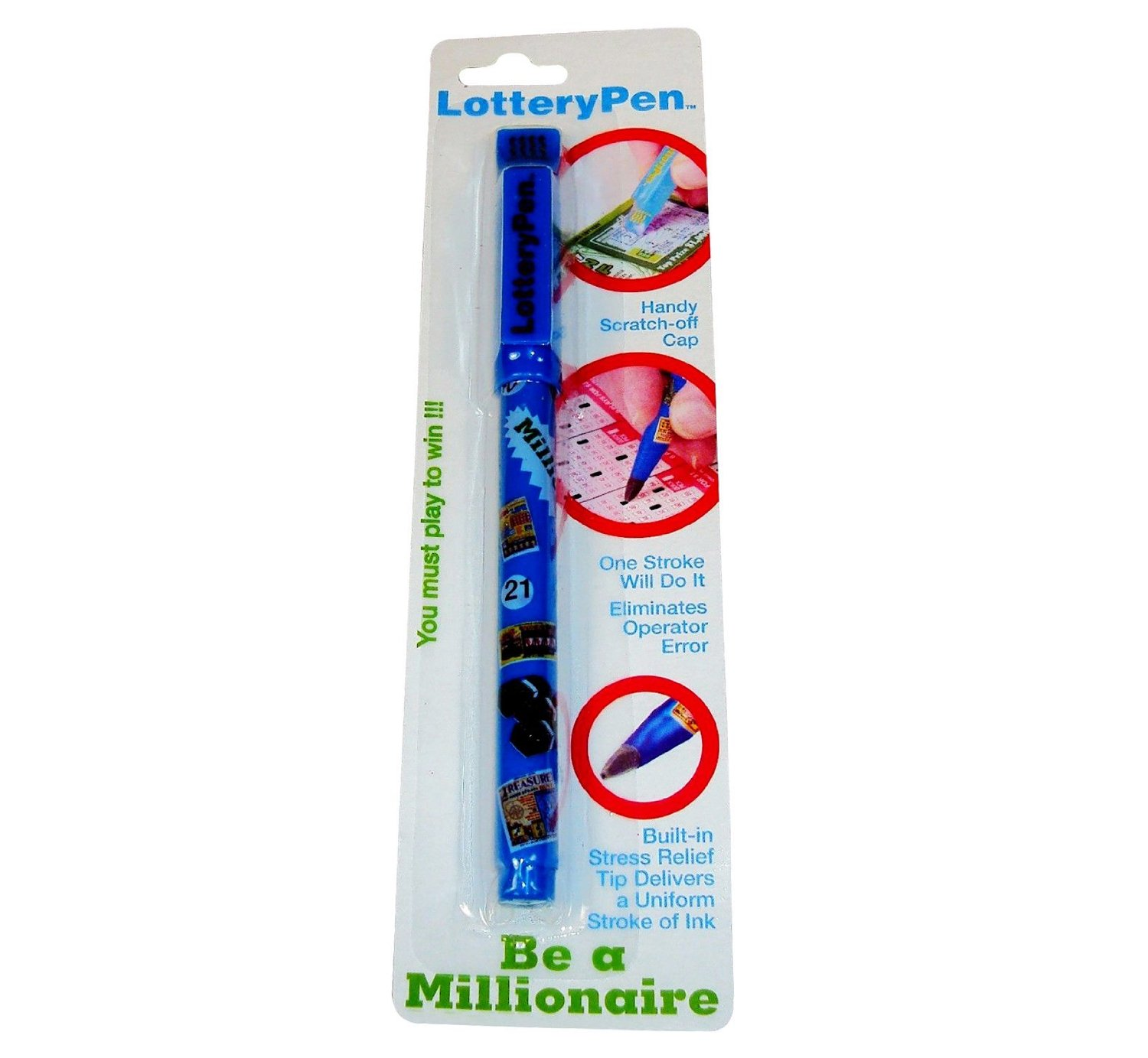 Lottery Pen, Lottery Ticket Pen, Marker with Scratch Off Card Remover, Scratch-Off Ticket Lottery Pen, Lottery Scratchier, Scratchier Free Lottery Pen - Special Nib for Card Marking.
