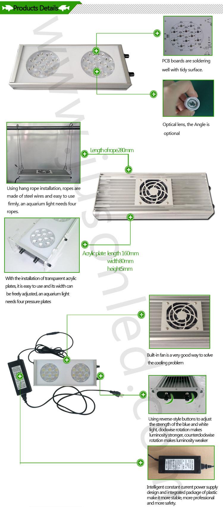 Dimmable Led Aquarium Light For Freshwater Saltwater Aquarium Fish ...