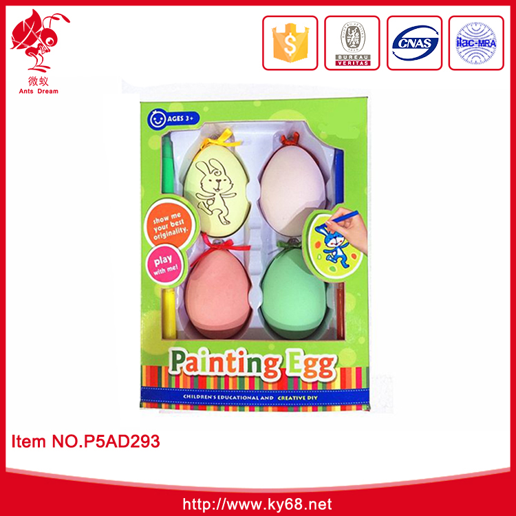 Wholesale popular DIY plastic painting promotional easter eggs for children