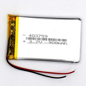 Li-polymer Battery 403759 900mAh 3.7V With PCM and Wires LiPO battery pack