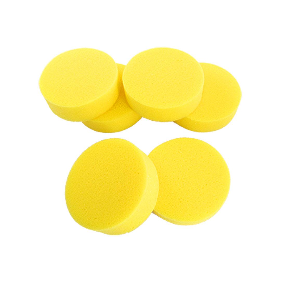 Yellow 6PCS WildAuto Car Waxing Sponge Foam Pads,Microfiber Car Waxing Applicator Cleaning Pads