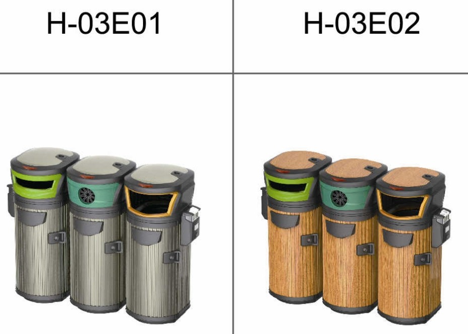 3 Compartment Bins for Recycling