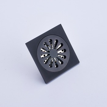 High Quality Oil Rubbed Bronze Bathroom Shower Square Floor Drain