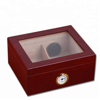 Cohiba Glass Top Cigar Humidor Box Cedar Wood Electrical Cigar Humidor Cabinet