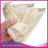 China supplier best price clip in remy hair extension 7 pieces wholesale human hair extension with clip