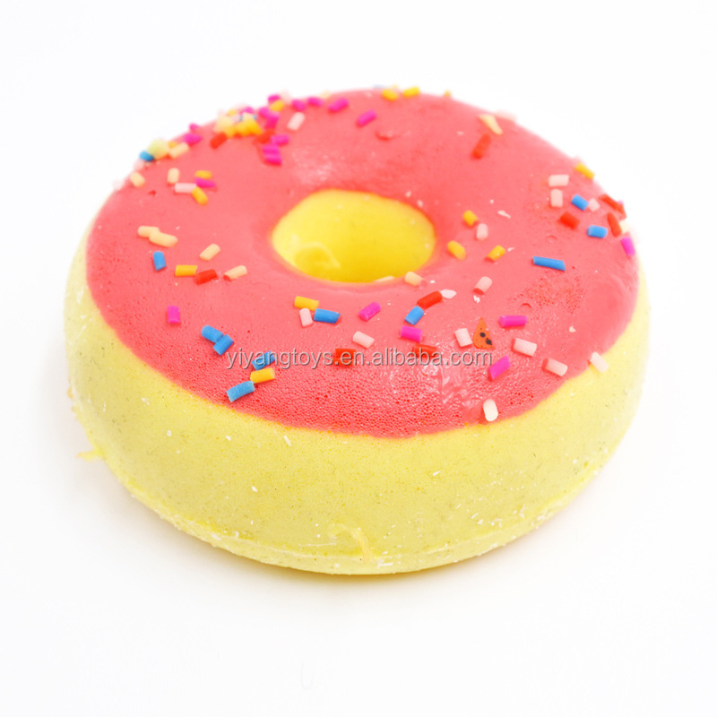 Promotional juguetes retorno gift toy colorful japan squeeze kawaii squishy donut toys