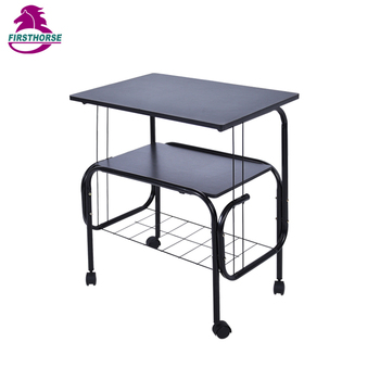 2 Tiers Tv Trolley Shelf Stand With Wheels