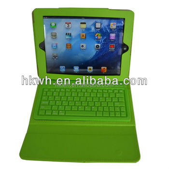 Factory Offer PU Leather Bluetooth keyboard Flip Briefcase Case For ipad 2/3/4 air