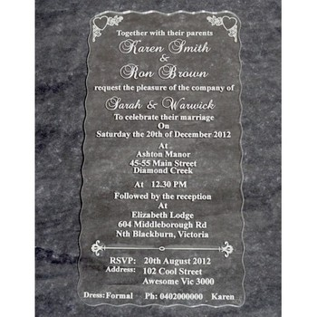 Lovely Latest Design Clear Acrylic Muslim Wedding Invitation Card Buy Acrylic Muslim Wedding Invitation Card Latest Design Acrylic Muslim Wedding