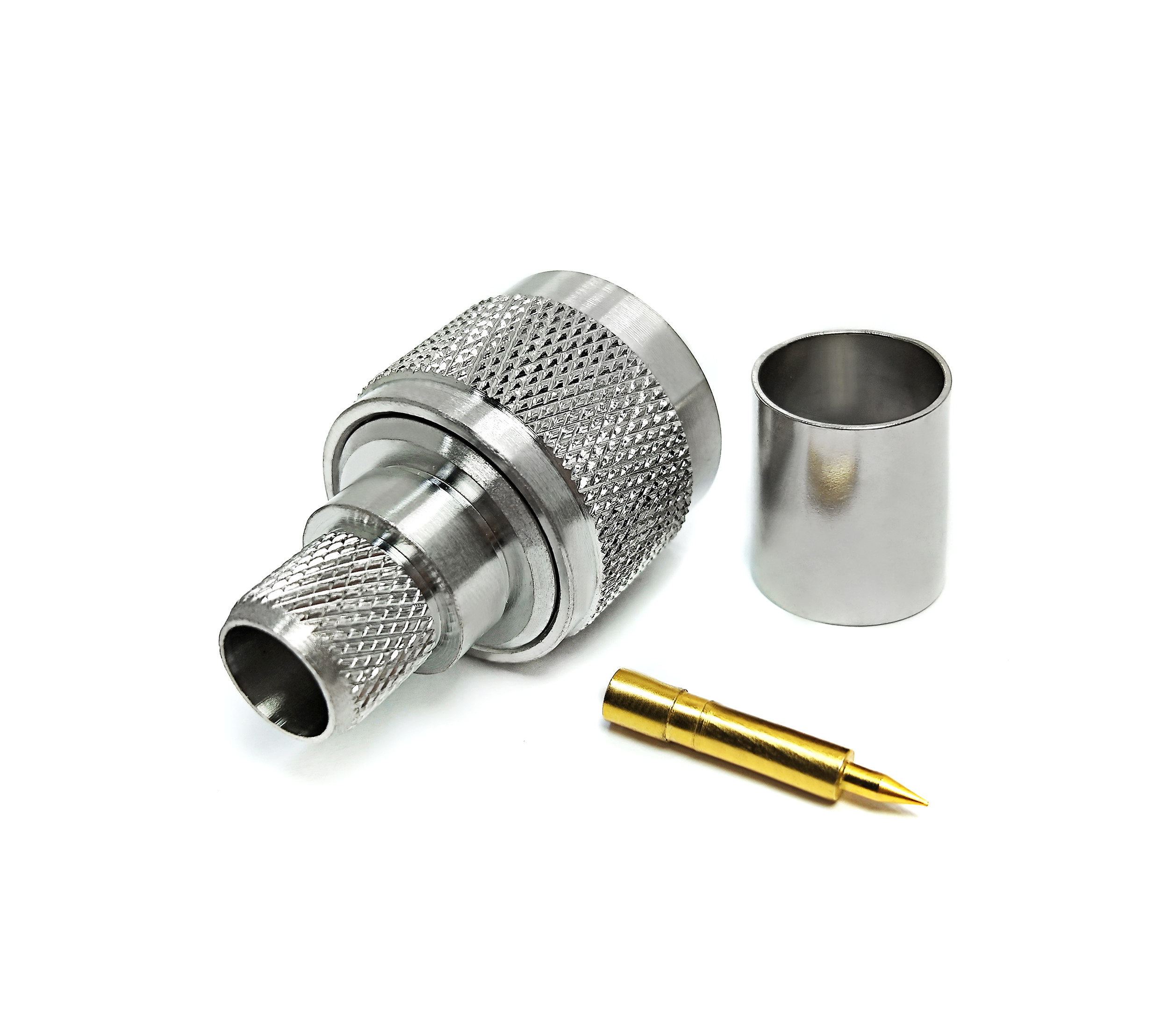 RF coaxial connector adaptor DC electrical terminal connector for cable LMR200
