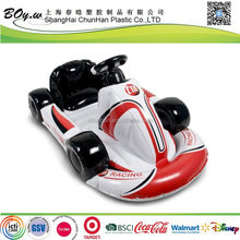 CN factory fashion children birthday gifts pool/ land air kart ride on pvc kids inflatable toy car
