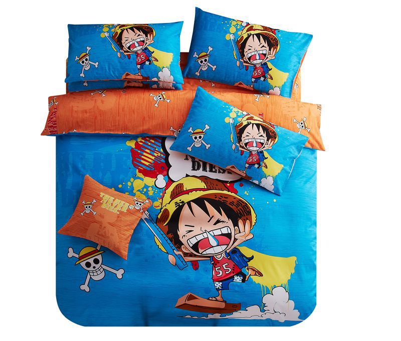 Funda Nordica One Piece.Wholesale 100 Cotton One Piece Anime Bedding Sets 3d Duvet Cover Twin Size For Single Bed Sheets Queen Housse De Couette Luffy Duvet And Duvet Cover