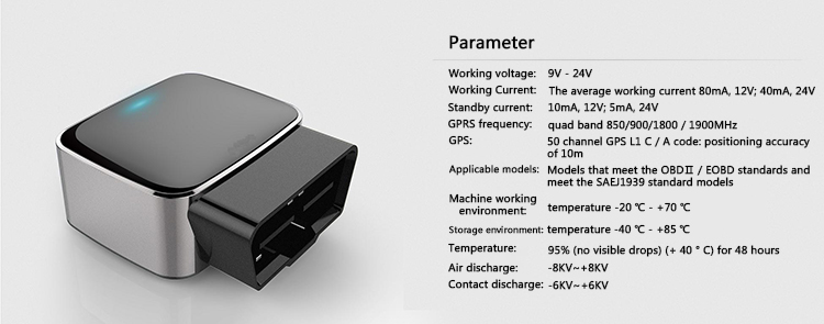Newest OBD GPS Tracker Mini Tracking  Device For Auto Car With Diagnostic Function