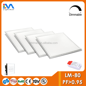DALI dimmable 60x60 led flat panel light 40W 30x30 60x120 light panel