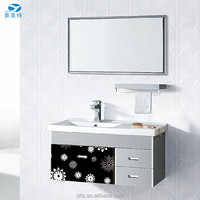 Rectangle size stainless steel bathroom porcelain wash vanity basin