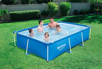 221x150x43cm Bestway Splash Frame Pool,Blue And Small Rectangular Metal  Frame Swimming Pool,Above Ground Pools - Buy Rectangular Metal Frame ...