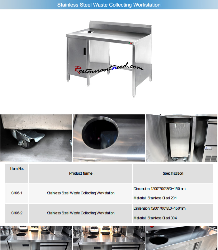 Hotel Restaurant Stainless Steel Bar Service Equipment Station