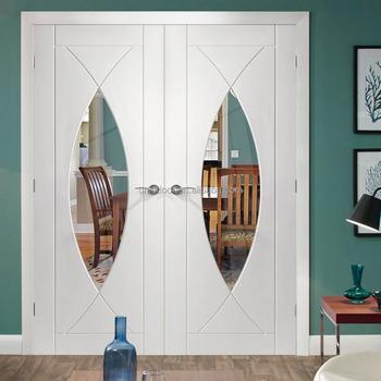 Gl Panel Door Leaf Wood Lock