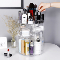 Top Transparent Plastic Spinning Makeup Organizers