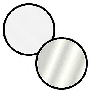 """Impact Collapsible Circular Reflector Disc - Silver/White - 12""""(3 Pack)"""