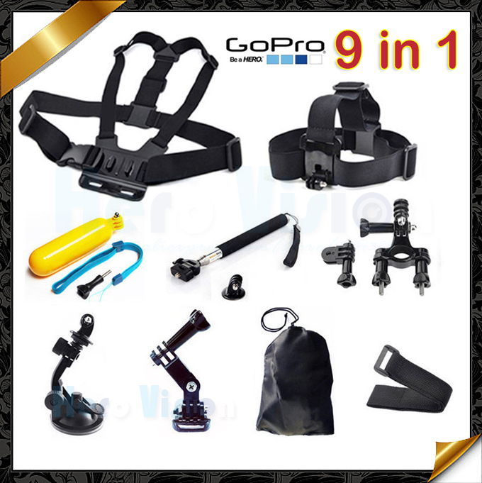 Gopro Accessories 9 In 1 For All Kinds Of Action Camera Accessories For Gopro