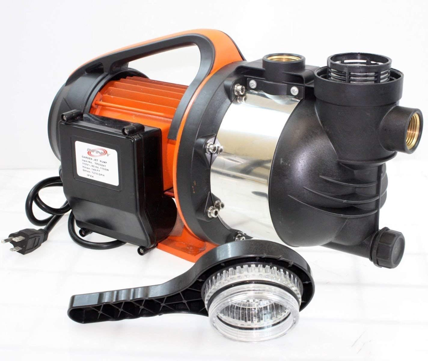 "G&Gonline 1.5HP 1"" SHALLOW WELL GARDEN SPRINKLER JET WATER PUMP BOOSTER SELF PRIMING 1100W"