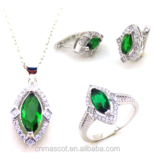 Elegant women gifts 925 silver crystal jewelry set in latest design